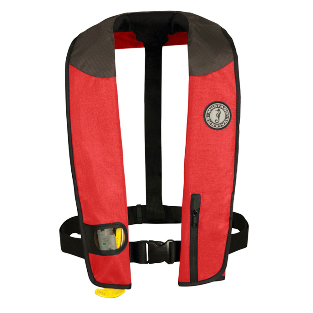 Mustang Survival Deluxe Inflatable PFD (Manual) - Red/Black/Carbon - Adult Universal