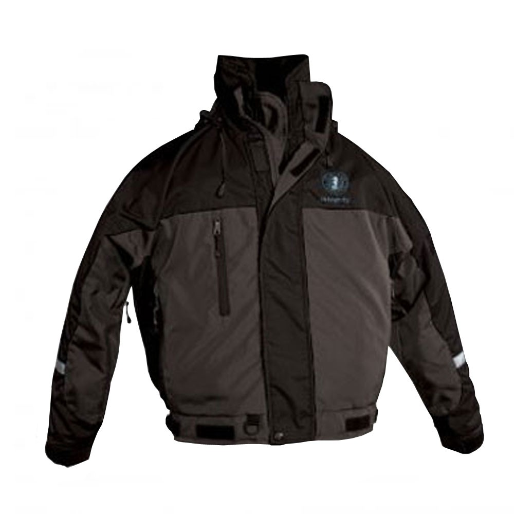 Mustang Survival Integrity Deluxe Flotation Bomber Jacket - Black/Carbon