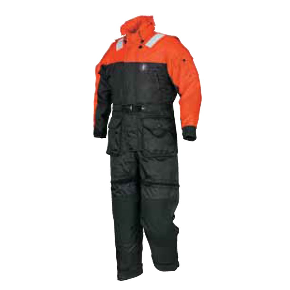 Mustang Survival Deluxe Anti-Exposure Coverall Work Suit USCG Auxiliary - Orange/Black