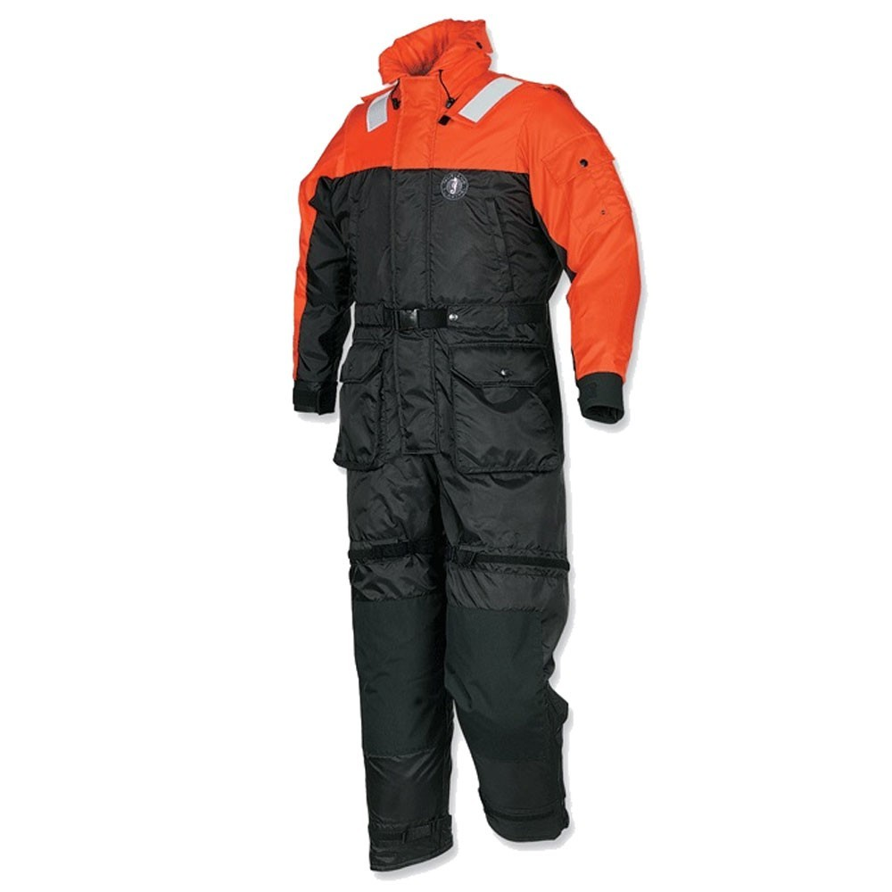 Mustang Survival Deluxe Anti-Exposure Coverall Work Suit - Orange/Black