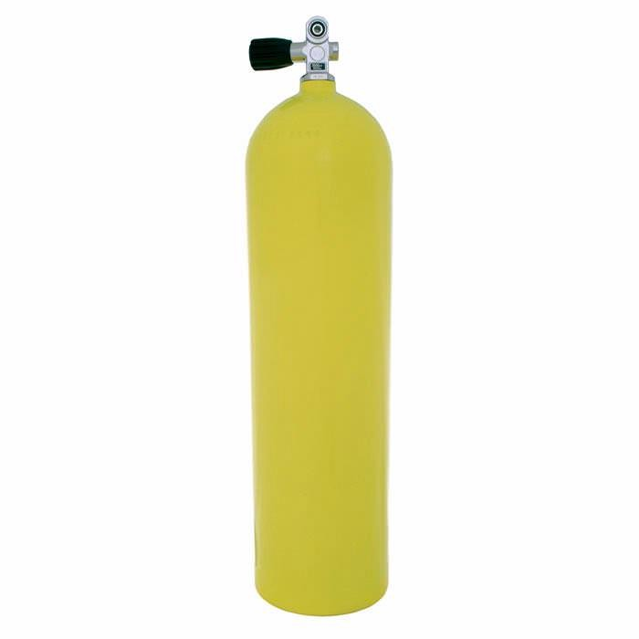 Aluminum Dive Tank - Yellow with Pro-Valve - 80 cu ft. A080-YEL-PRO
