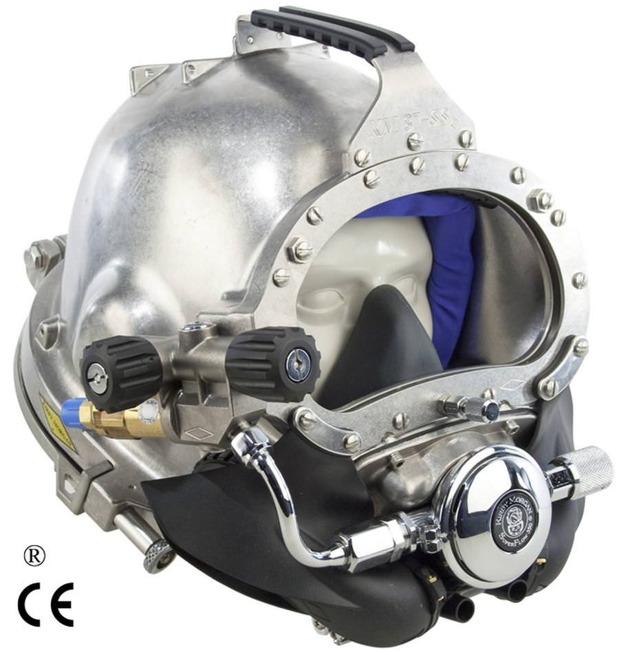 Kirby Morgan 37SS Stainless Steel Commercial Diving Helmet with Posts 500-100