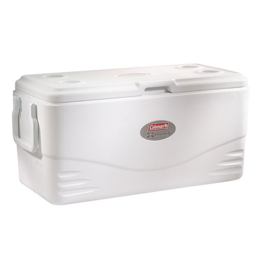 Coleman 100-Quart Xtreme 5-Day Marine Cooler with Swing Handles - White