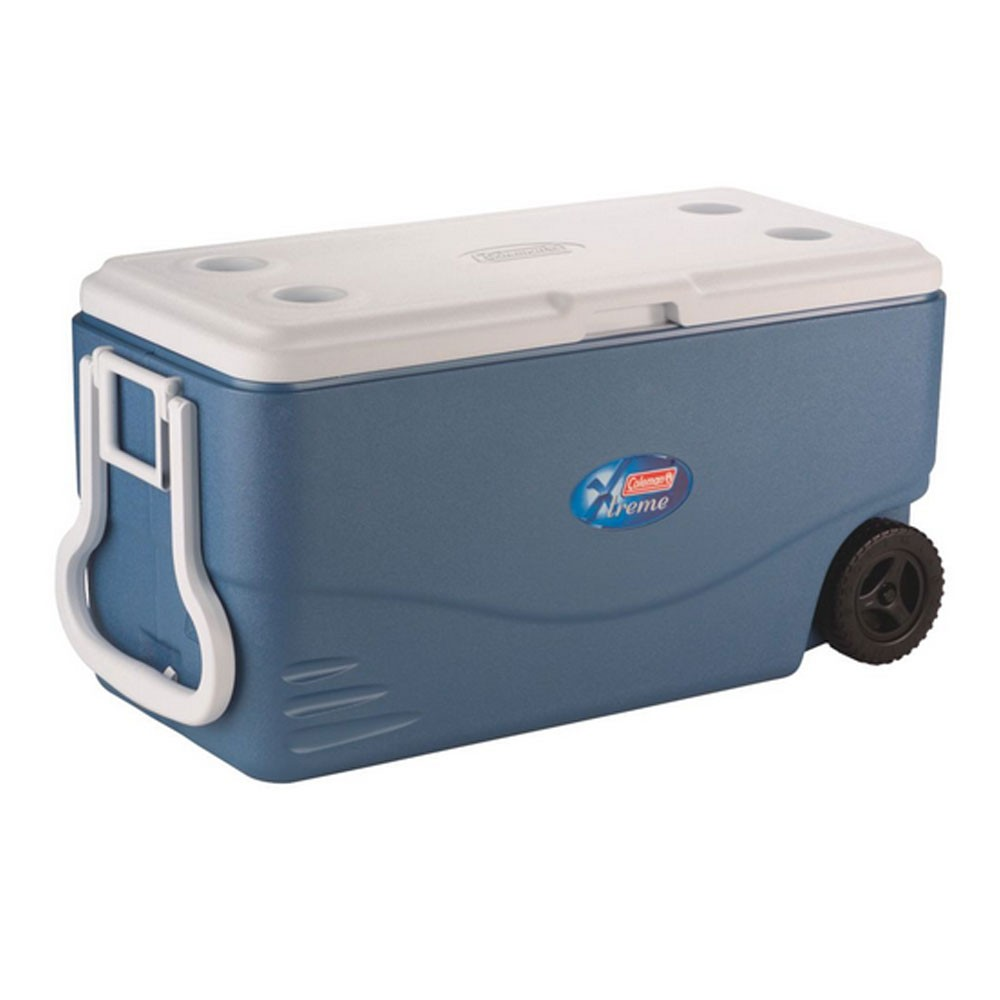 Coleman 100-Quart Xtreme 5-Day Cooler with Wheels - Blue