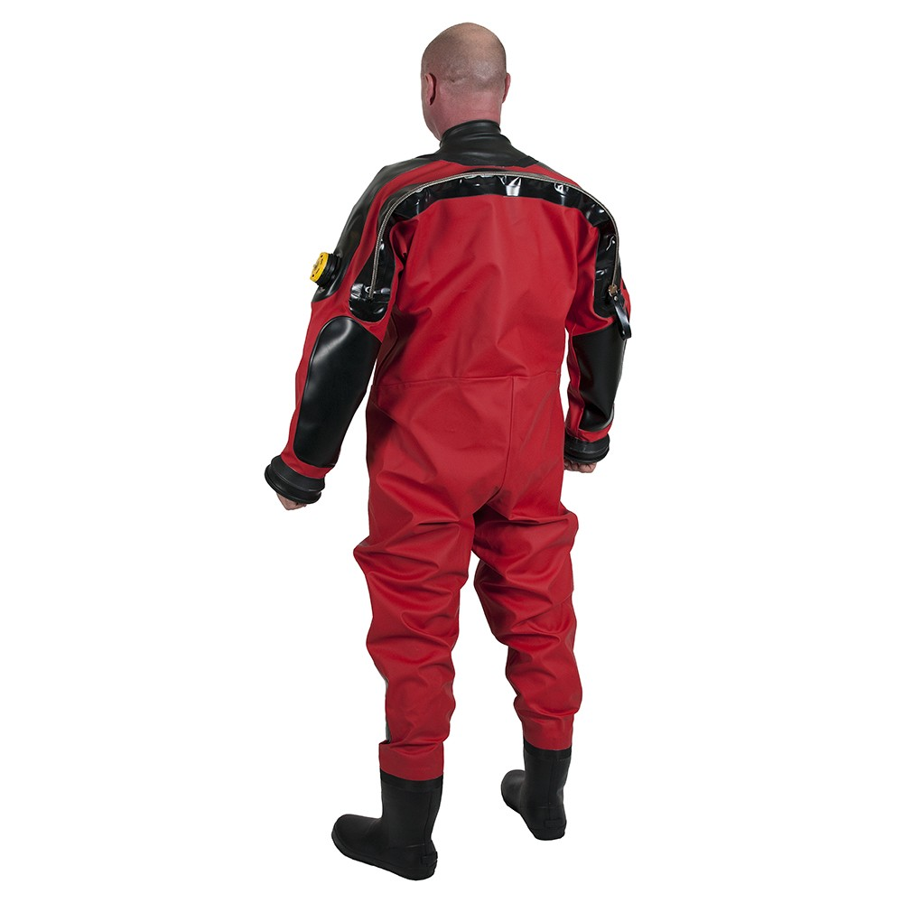 Viking Haztech Drysuit with Latex Neck Seal - Back View
