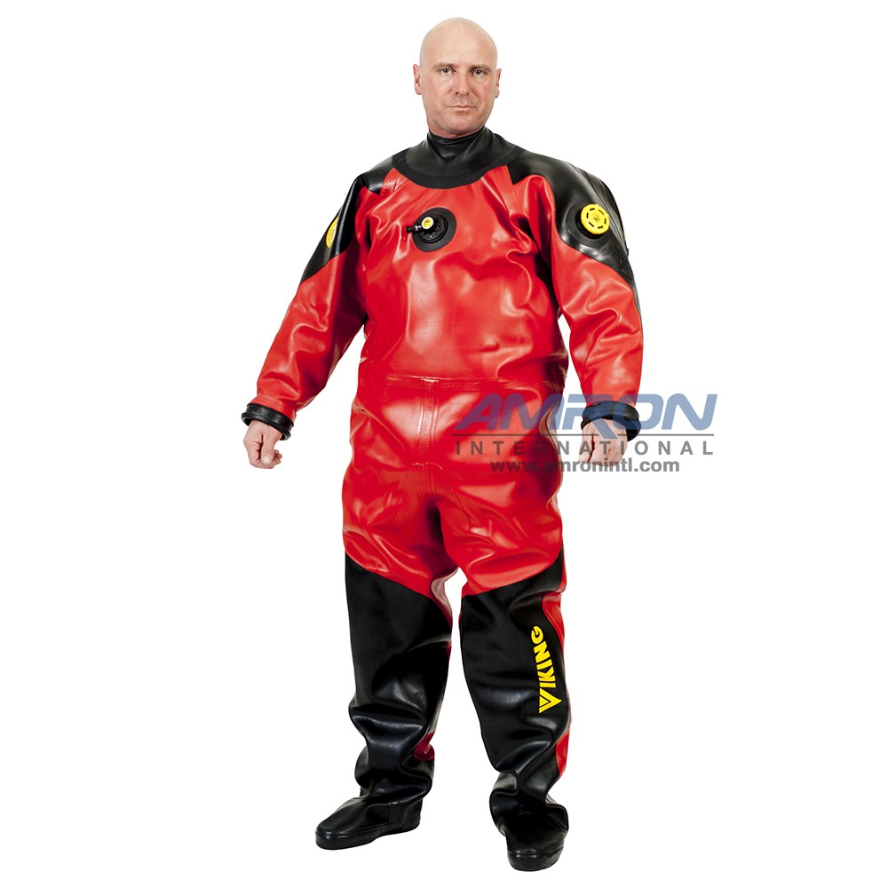 Viking HD Heavy Duty 1550 g/m2 Vulcanized Rubber Drysuit with Latex Neck Seal