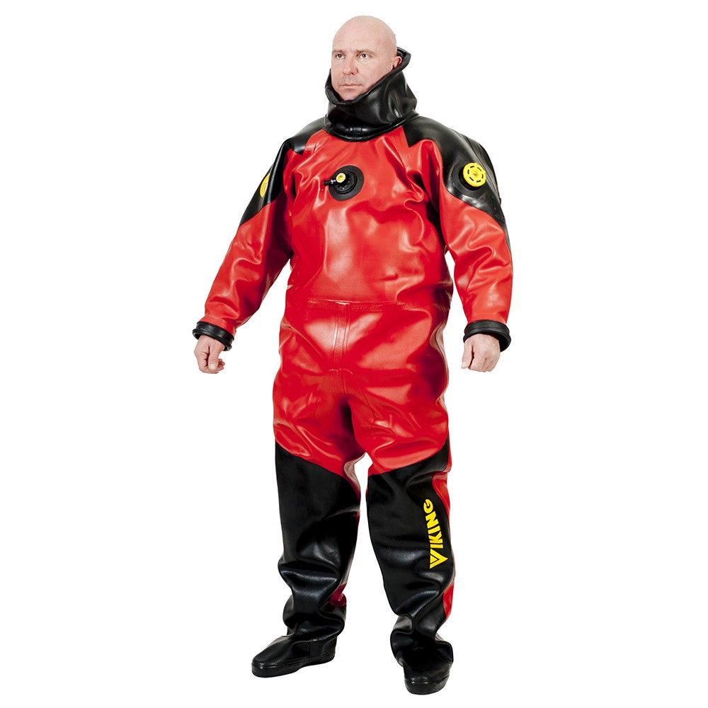Viking HD Heavy Duty 1550 g/m2 Vulcanized Rubber Drysuit with Safety Boots and Desco Yoke