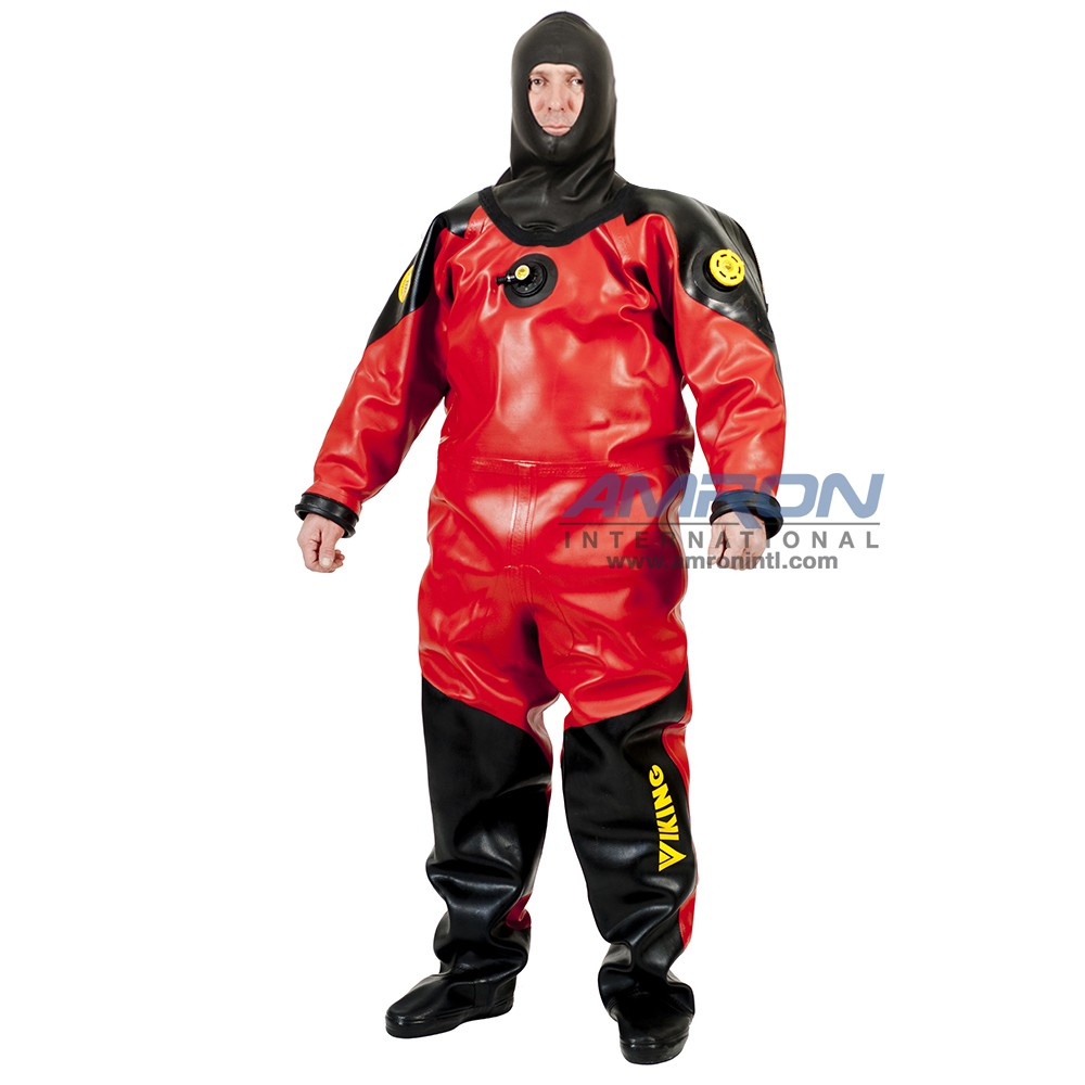 Viking HD Heavy Duty 1550 g/m2 Vulcanized Rubber Drysuit with Surveyor Hood