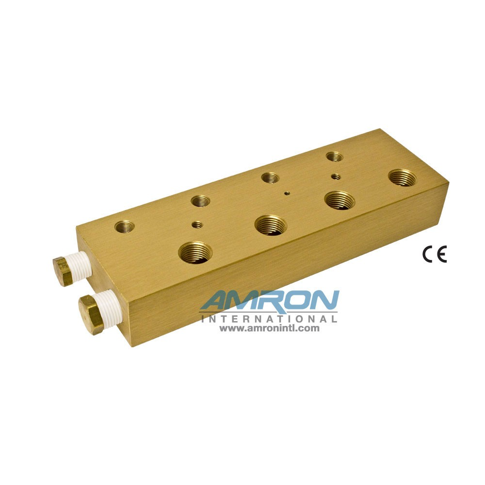 Amron International 8000-004 Chamber BIBS Manifold Block with 4 Ports-Front