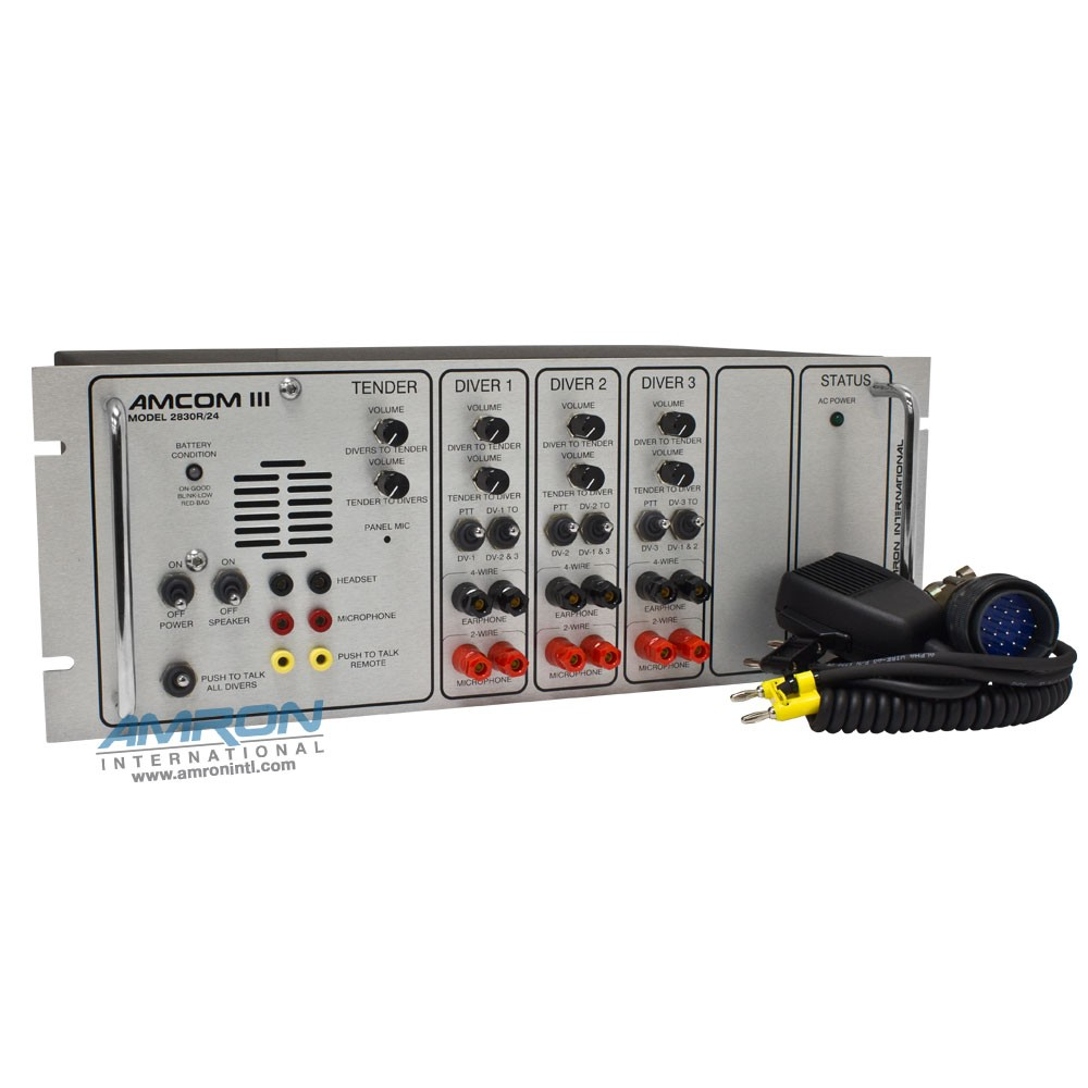Amcon 3-Diver Standard Rack Mount Communicator 2830R/24 REFERENCE ONLY