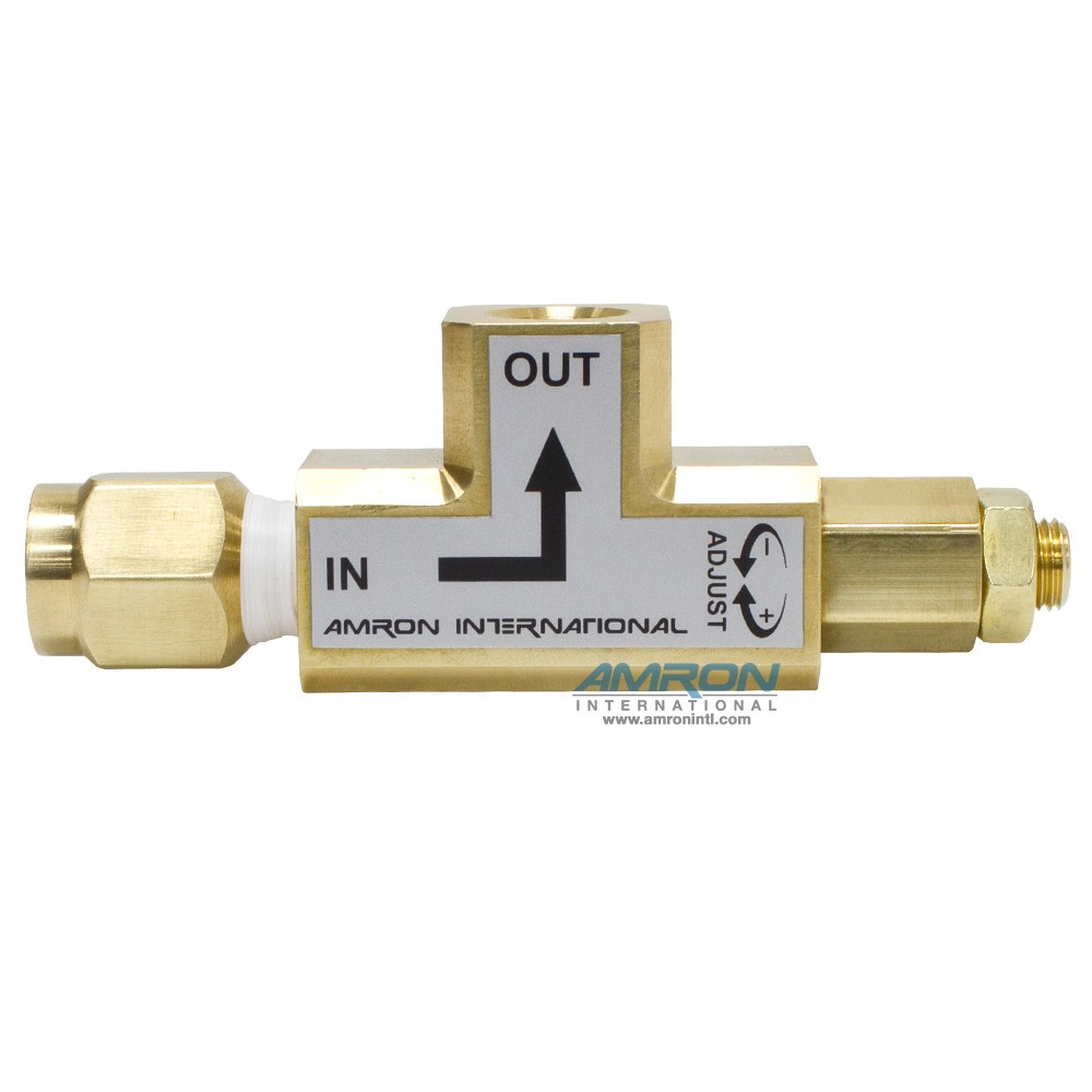 Amron International Angled Pressure Limiting Valve - 150-500 PSI - Set at 250 psi
