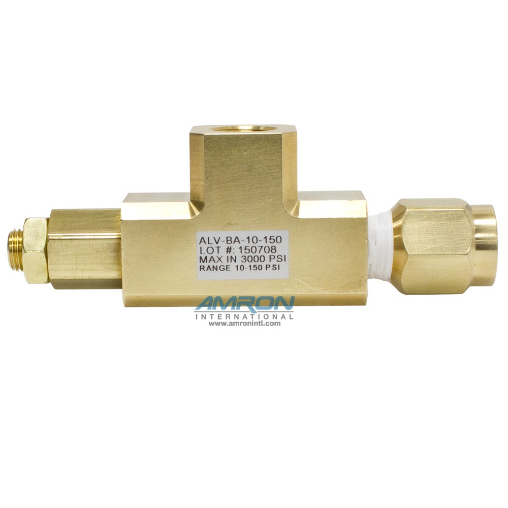 Amron Angled Pressure Limiting Valve - 10-150 PSI - Set at 100 psi