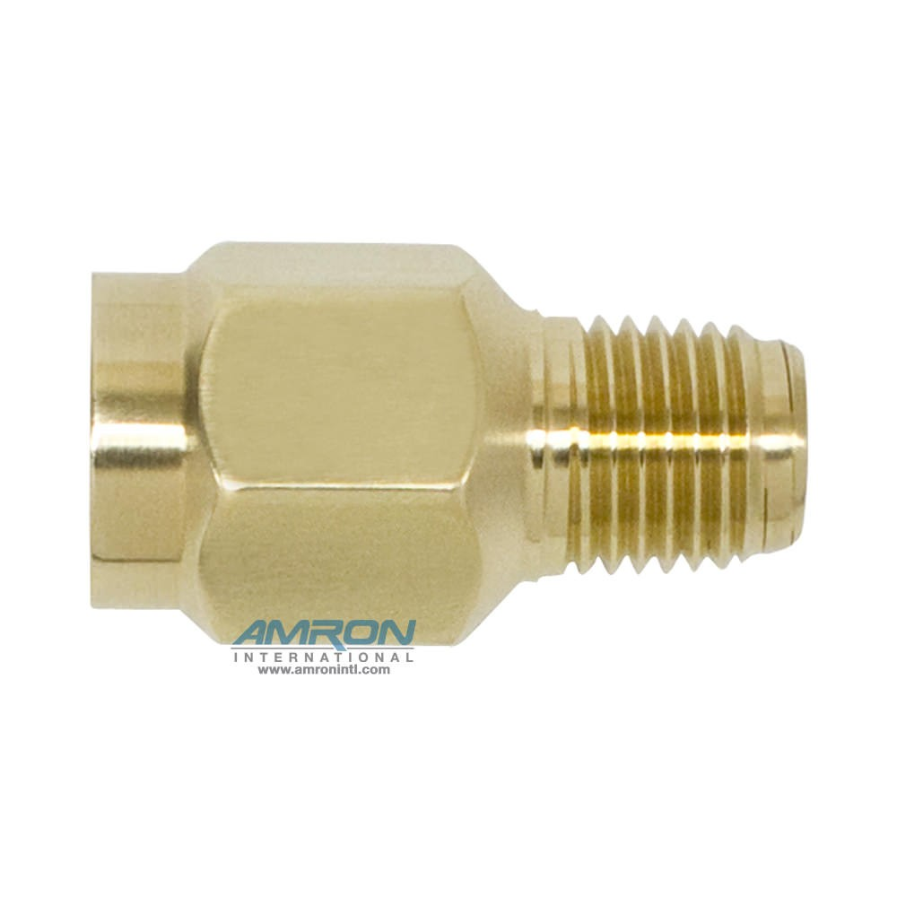Amron International Snubber - 1/4 in. FNPT x 1/4 in. MNPT Connections - Brass 550-0011-01