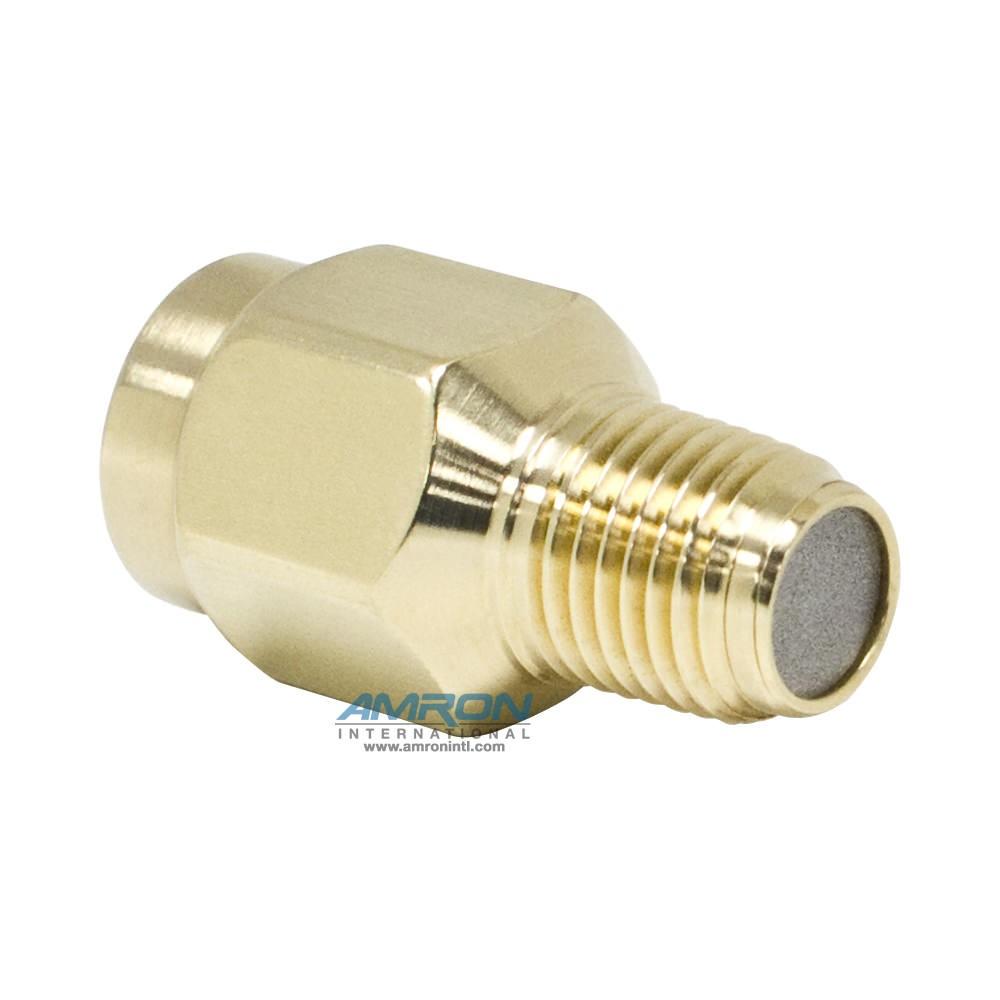 Amron International Snubber - 1/4 in. FNPT x 1/4 in. MNPT Connections - Brass 550-0011-01