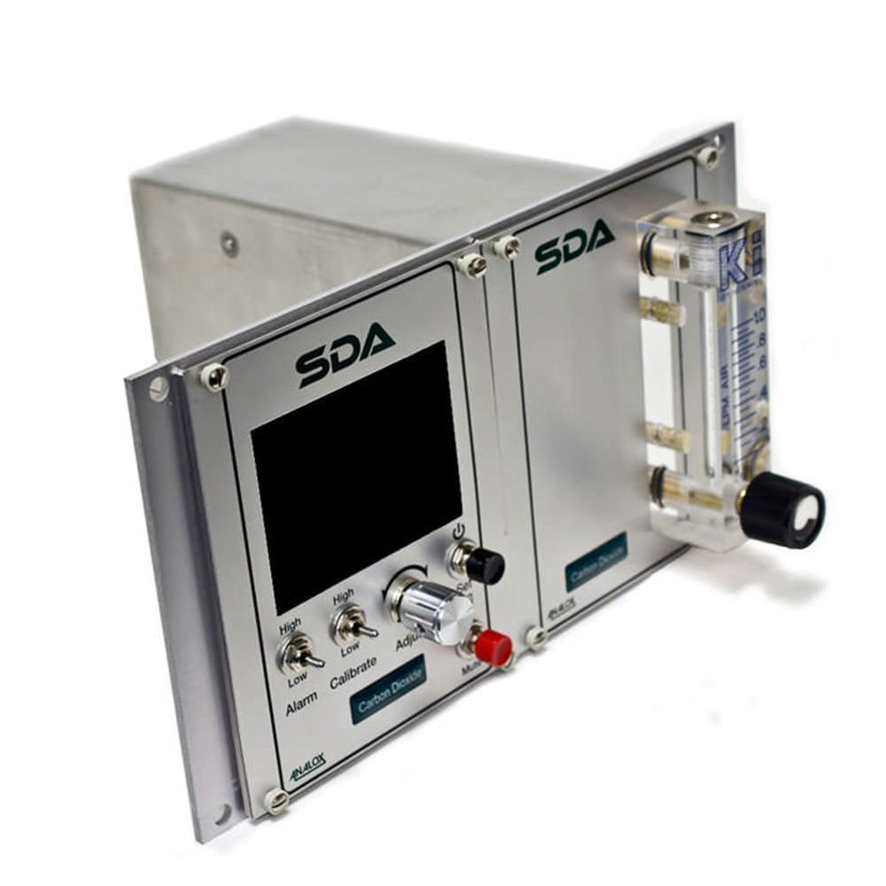 Analox SDAPBBNYA SDA CO2 Monitor with Datalogging - Panel Mount - 5000 ppm in N2