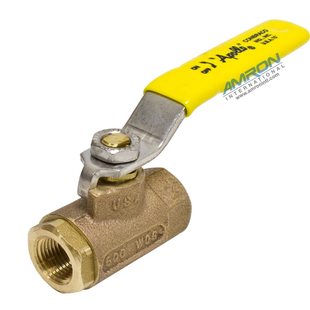 Apollo Valves 70-102-10 - 70 Series Ball Valve - 3/8 in. Female NPT - Stainless Steel Lever and Nut