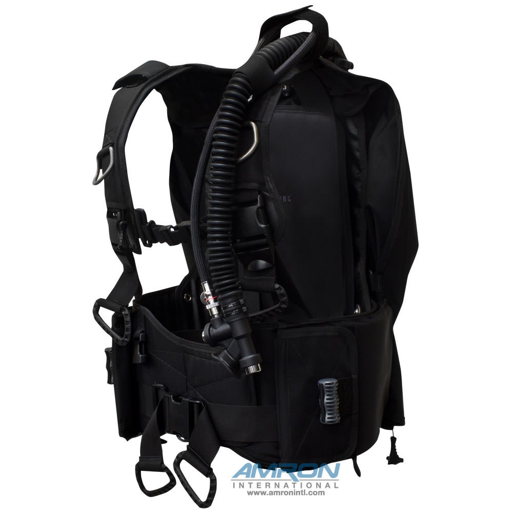 Aqua Lung BC-1 Black Buoyancy Compensator – Medium with Hook & Loop Weight Pouches 3600-12