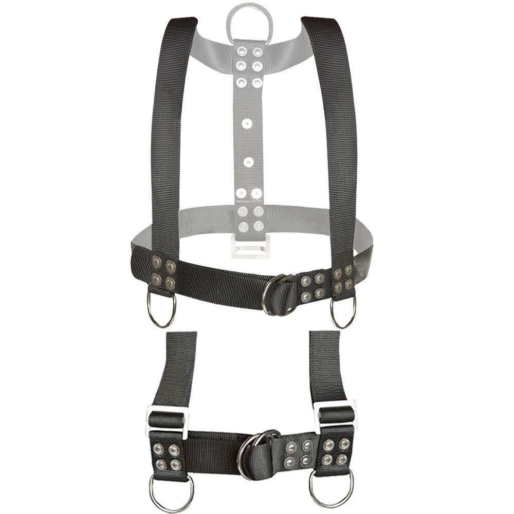 Atlantic Diving Equipment Bell Harness with Shoulder Adjusters BH-200-SA (Front)