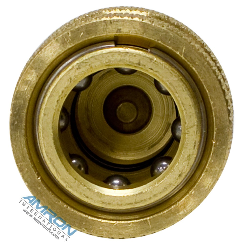 Hansen B2-H16-SL - 2-HK SRS Socket 2-Way 1/4 in. FNPT in Brass with Sleeve Lock Device - Bottom