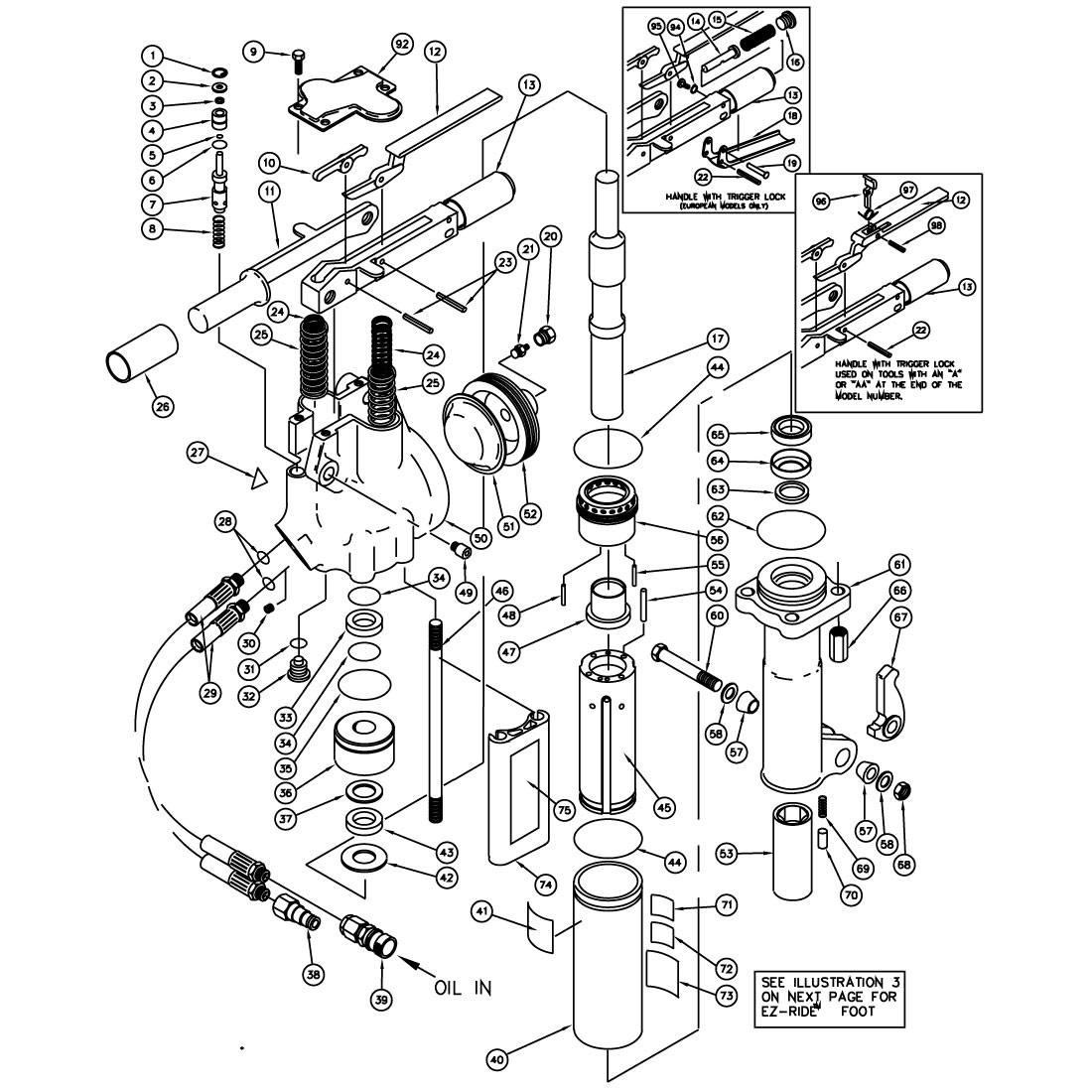 Stanley BR67 Anti-Vibration Handle Parts Illustration