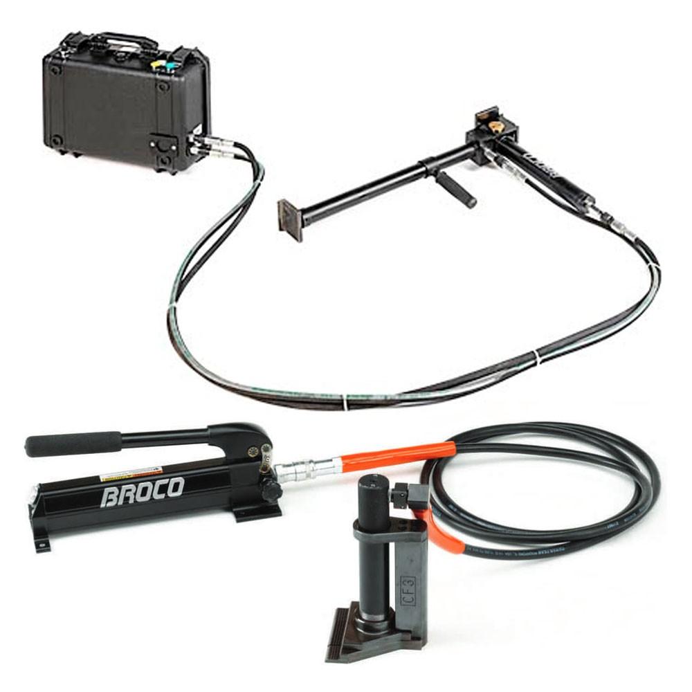 BROCO SAS Door Breacher And CF 3 Hydraulic Crows Foot Spreader Entry Tool  Set BRO SAS CF3 WP