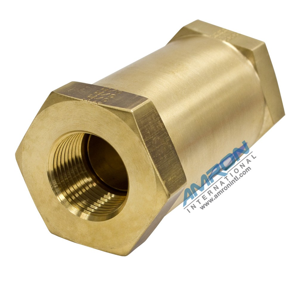 Circle Seal 200 Series Check Valve 1/2 inch FNPT Brass 249B-4PP