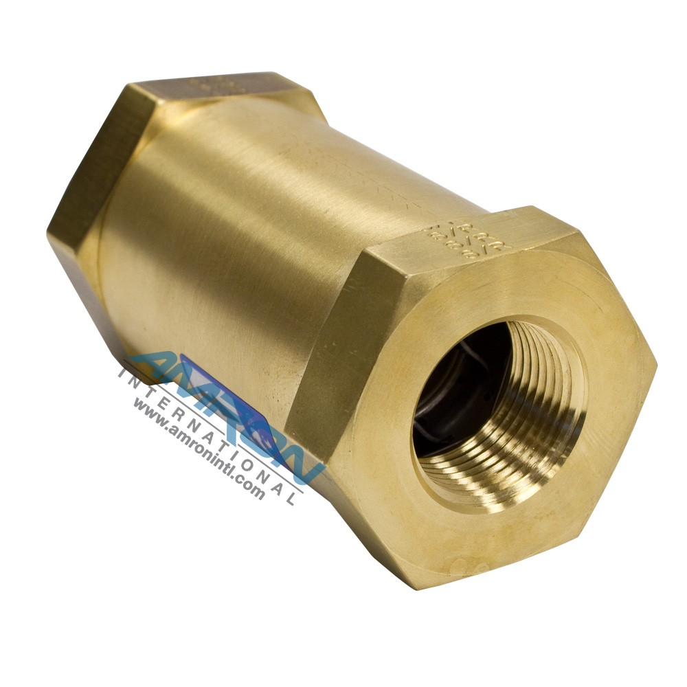 Circle Seal Check Valve 1/4 inch Female NPT - 2 to 4 PSIG Cracking Pressure - Brass 249B-2PP