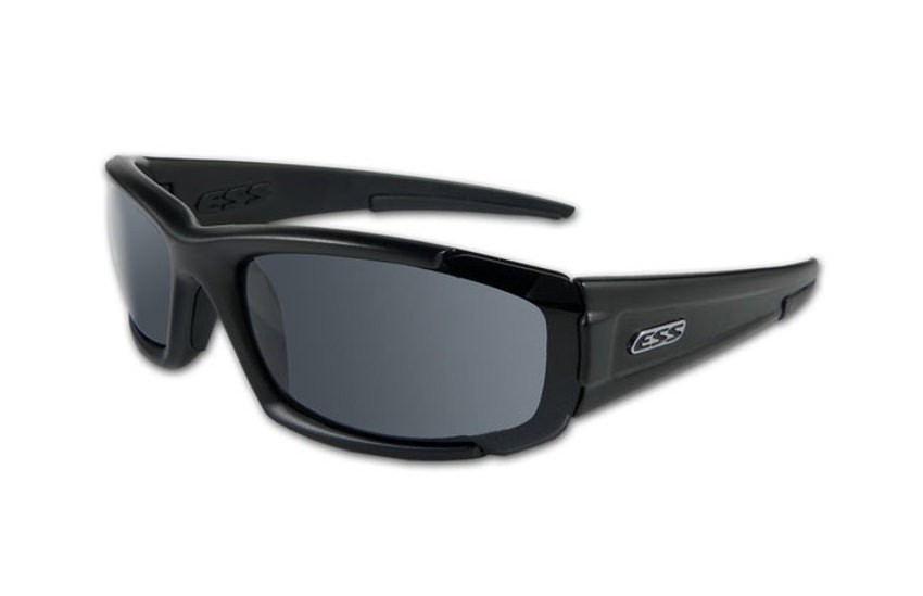 ESS CDI Sunglasses - Black Frames - Smoke Gray Lenses
