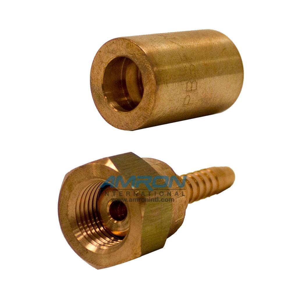 Cortland inch oxygen hose fitting swagable phosphor