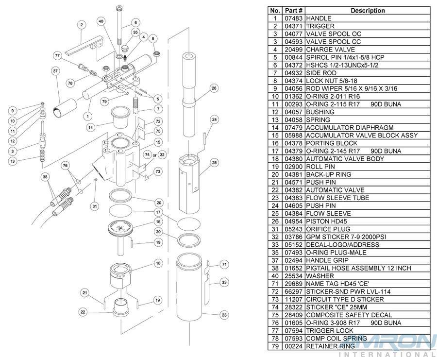 Stanley Hydraulic Underwater Hammer Drill HD45 Blowapart Part 2