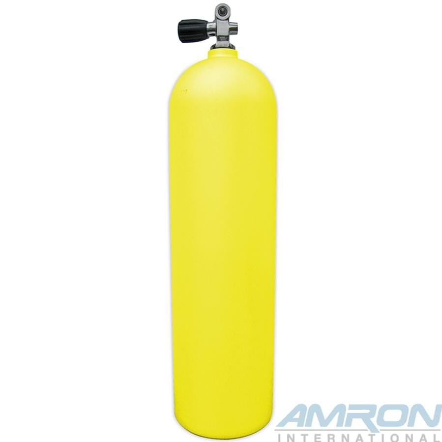 Aluminum Dive Tank Yellow with K-Valve A080-YEL