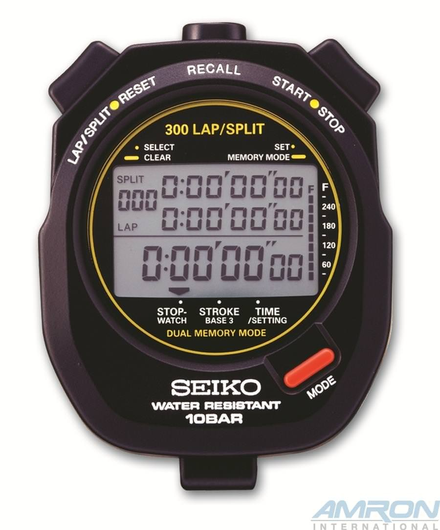 Seiko S141 Multi Function Stopwatch Black