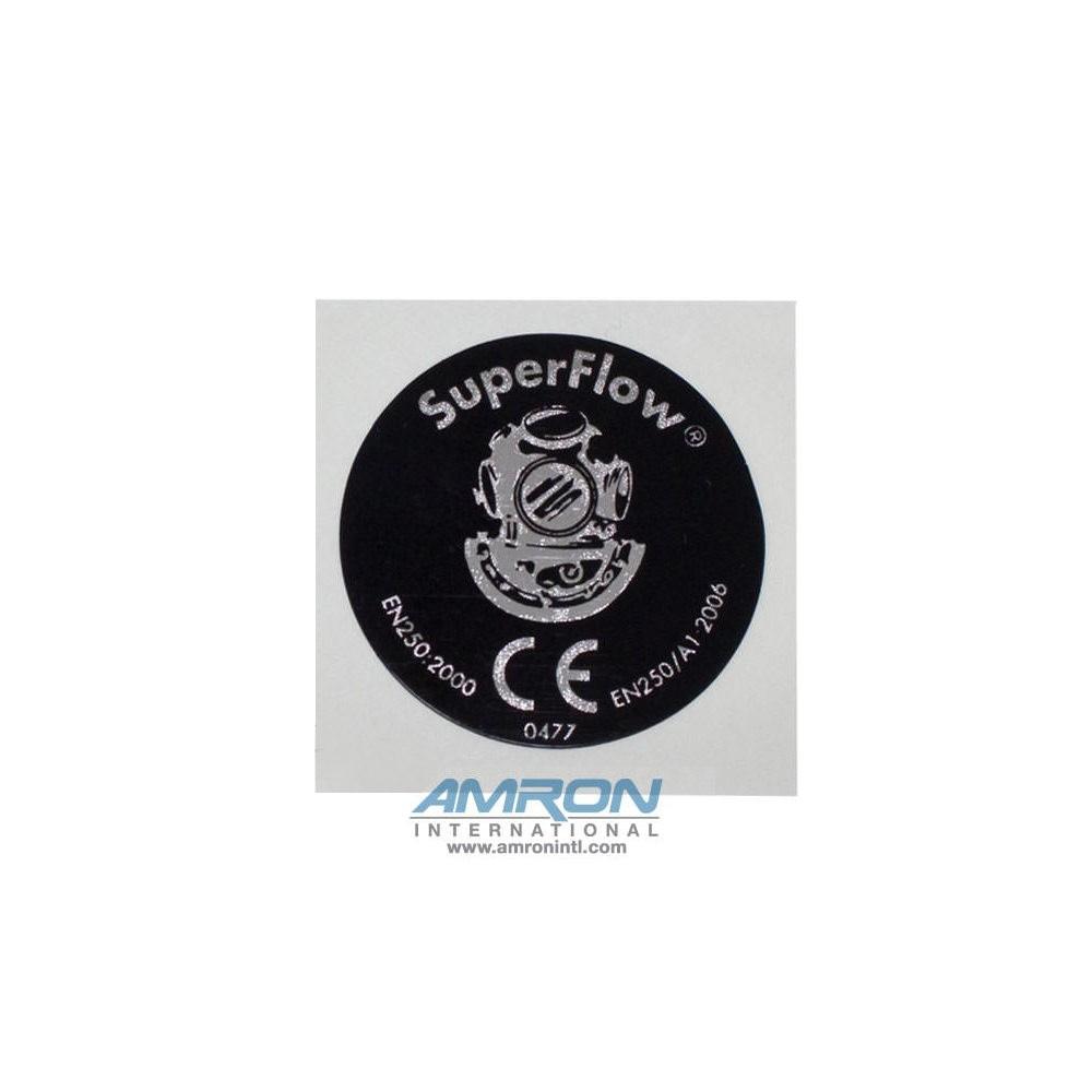Kirby Morgan 545-018 SuperFlow 350 Regulator Cover Assembly Sticker