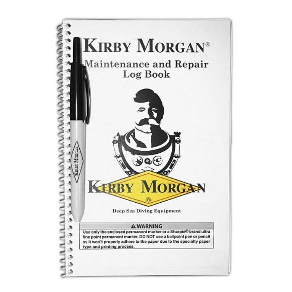 Kirby Morgan Logbook with Pen - P/N: 125-001