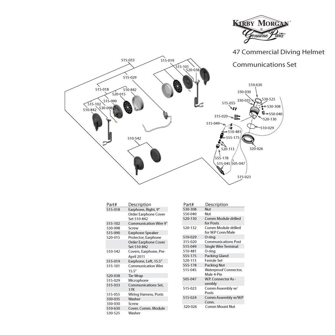 Kirby Morgan Wiring Diagram Trusted Diagrams G6 47 Commercial Diving Helmet Mwp 500 071 Regulator