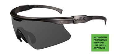 Wiley X PT-1 Sunglasses Matte Black Frame with Smoke Lens WIL-PT-1S