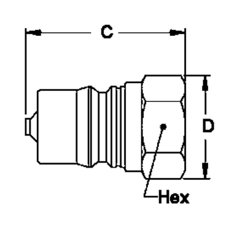 Hansen LL3-K21 - 3-HK 3/8 in. FNPT Plug in Stainless Steel (303)