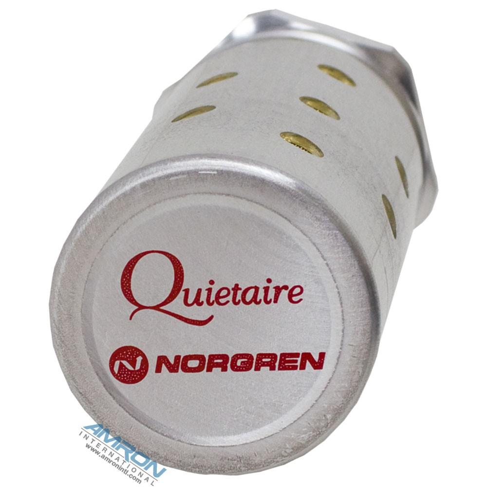 Norgren Quietaire Heavy Duty Muffler NPT Port 1/4 Flow 2.3 Hex 13/16 Len 2.17 MB002A