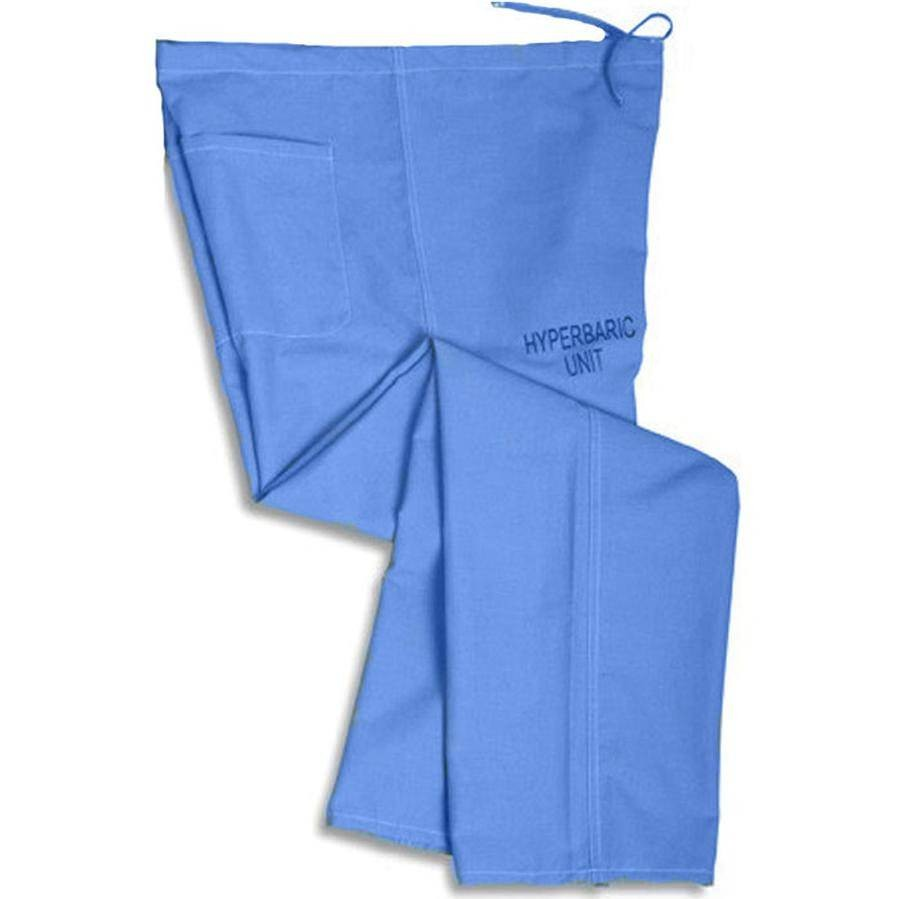 Medline Hyperbaric Scrub Pants, 100% Cotton Ceil Blue, Size 2XL  MDL-659MHSXXL-CM