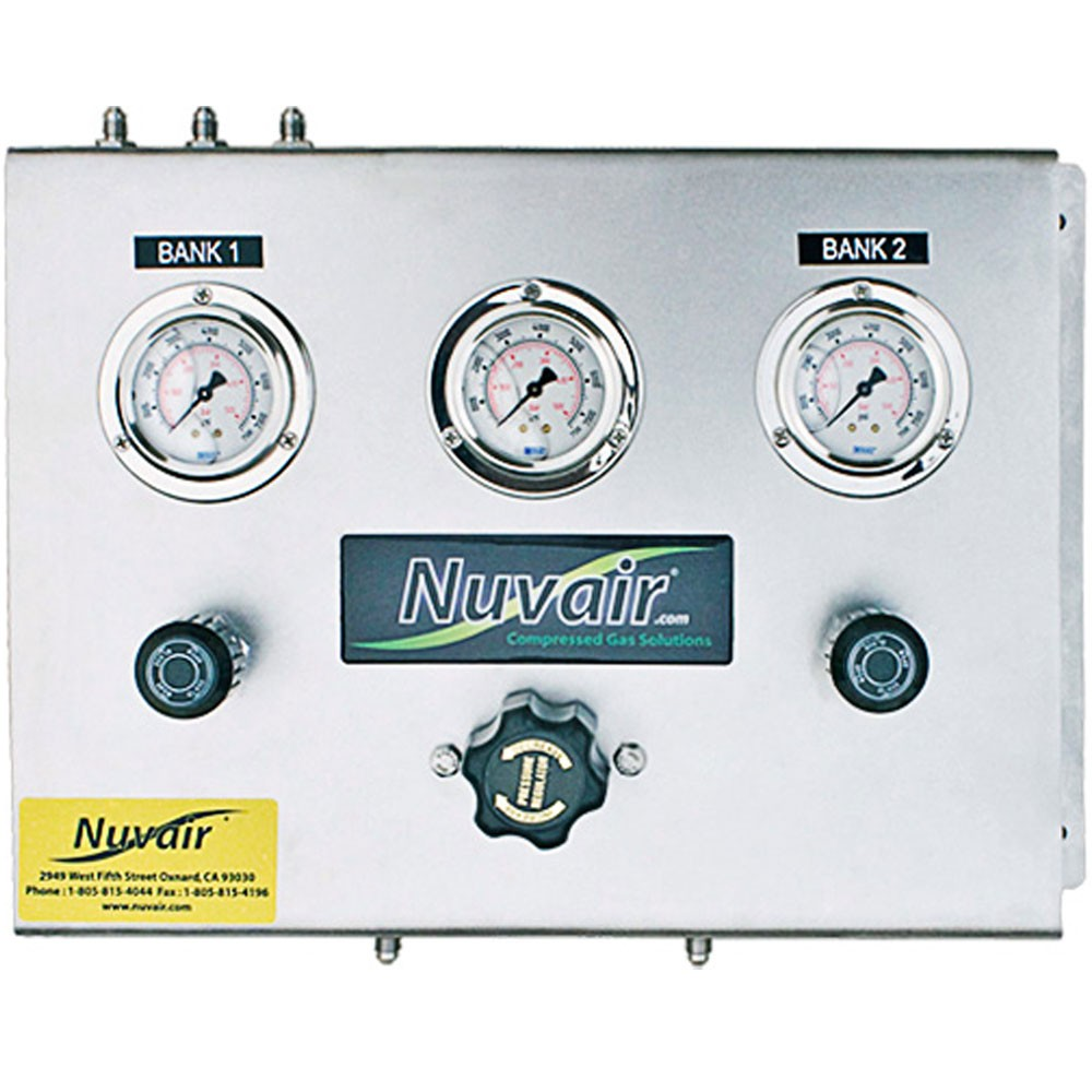 Nuvair High Pressure Fill Panel 2 Bank HP-HP Regulator NUV-PN-2BA