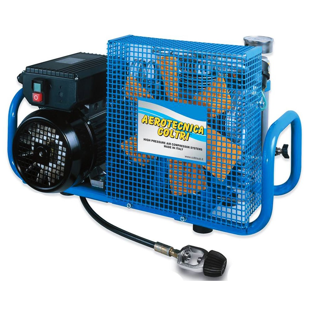 MCH-6 Portable High Pressure Air Compressor - Electric 3 HP 230V 60HZ Single Phase - 4500 PSI Maximum Pressure