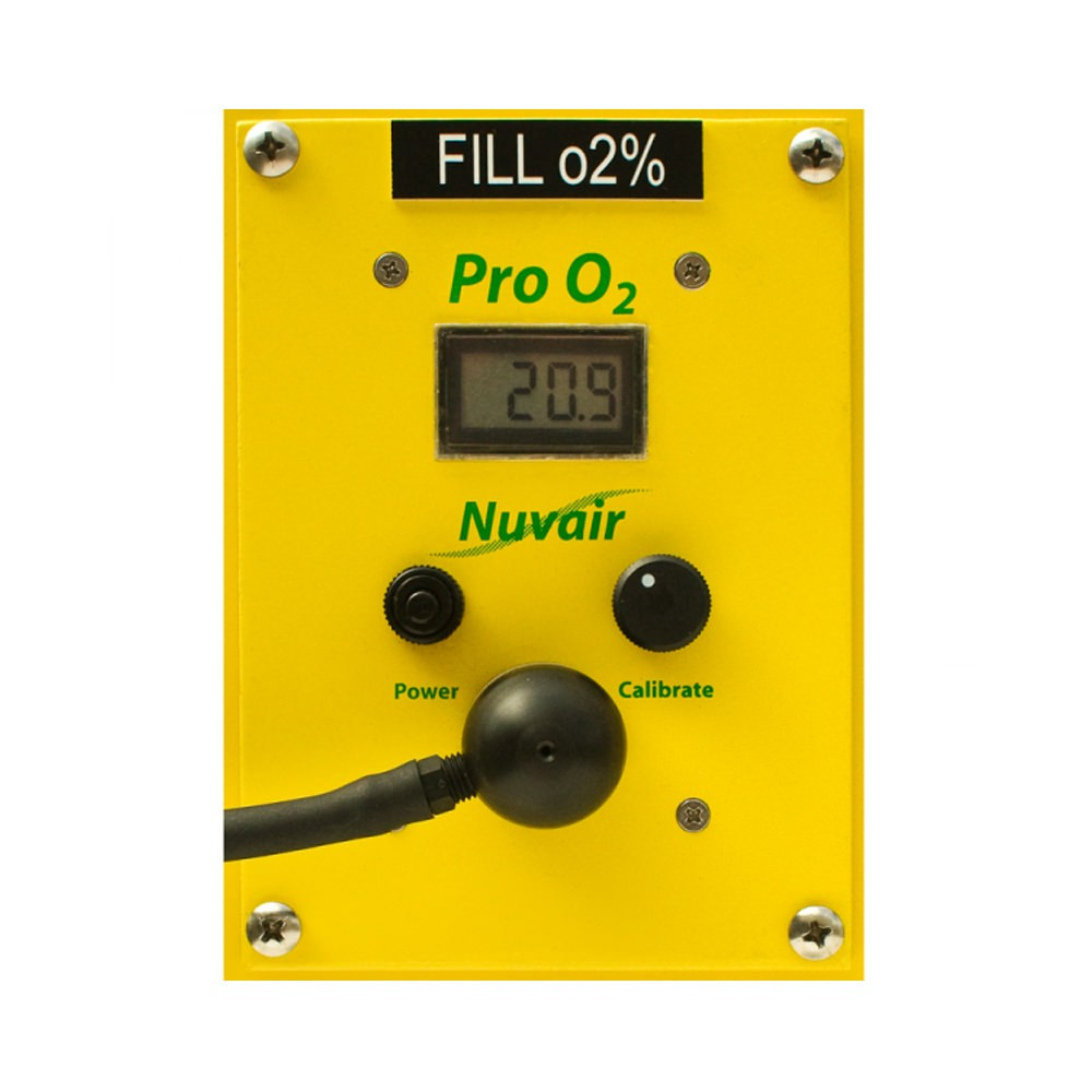 Nuvair Pro Oxygen O2 Analyzer Panel Mount NUV-9462B