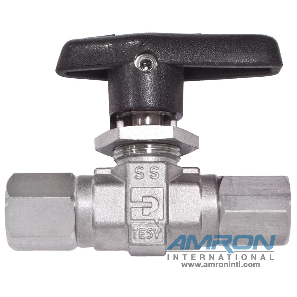 Parker B-Series Ball Valve 1/4 in NPT Female Stainless Steel 4F-B6LJ2-SS