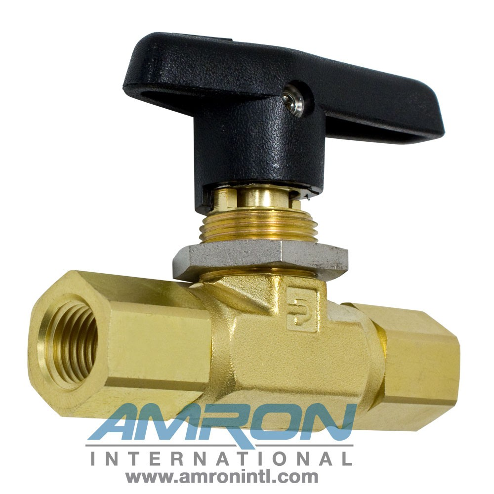 Parker B-Series Ball Valve - 1/4 in Female NPT PTFE Seat - Brass 4F-B6LJ-BP
