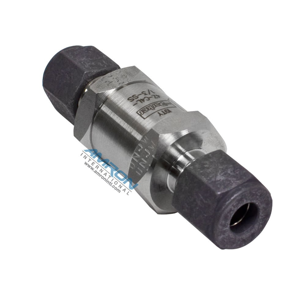 Parker C-Series Check Valve 1/2 PSI Cracking Stainless Steel 4Z-C4L-1/3-SS