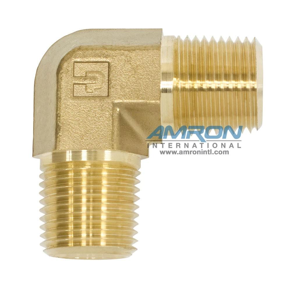 Parker CR Male Pipe Elbow Brass 1/2 inch NPT CR-B-1/2