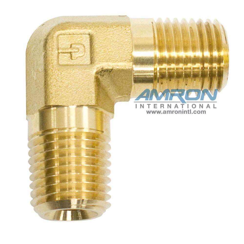 Parker CR Male Pipe Elbow 1-4 in NPT Brass CR-B-1-4