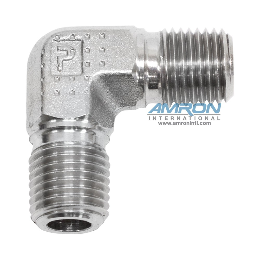 Parker cr male pipe elbow inch npt stainless steel