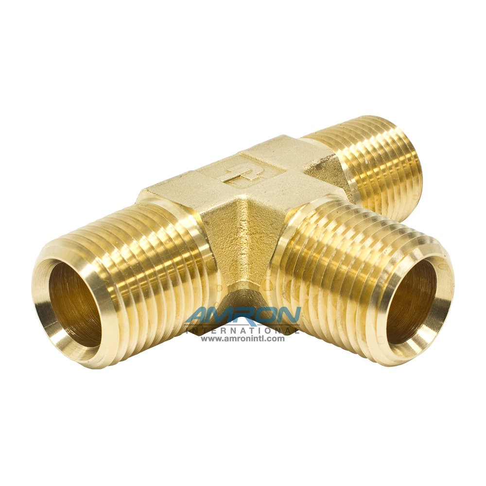 Parker Male Pipe Tee 1/2 inch NPT - Brass RRS-B-1/2