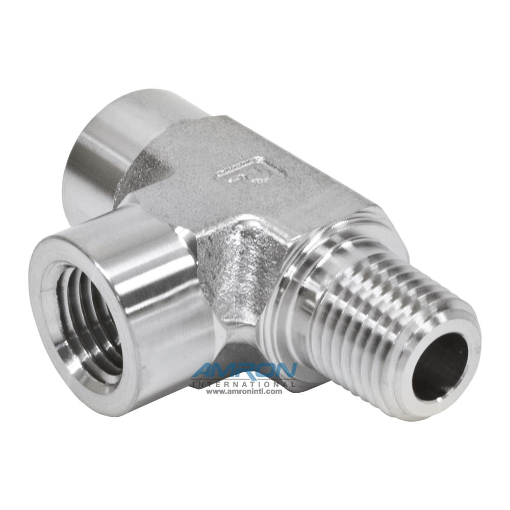 Parker MRO Street Tee Male on Run 1/4 in NPT Stainless Steel MRO-SS-1/4